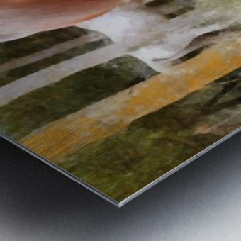 Pregnant Tan Mare Grazing Metal print