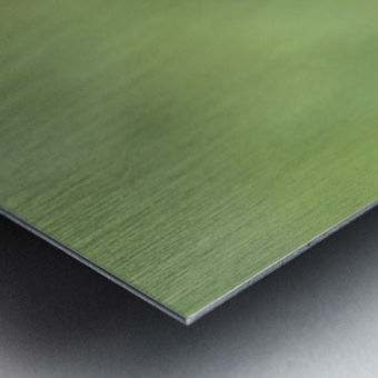 Abstract Art Bokeh - greens and yellow Metal print