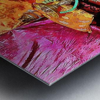 Exotic Oriental Hookah Pipe 2 Metal print