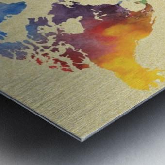 Hot And Vivid Watercolor Map Of The World Metal print