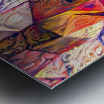 Modern Digital Abstract Painting Metal print