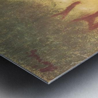 Under the Hollyhocks by Joseph Rippl-Ronai Metal print