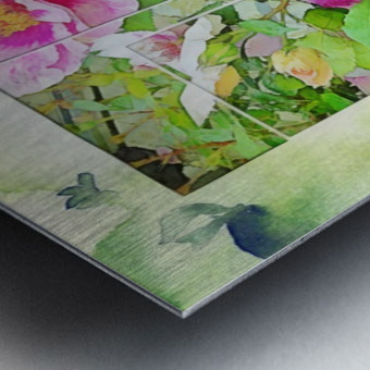 Soft Rose Fragments Metal print