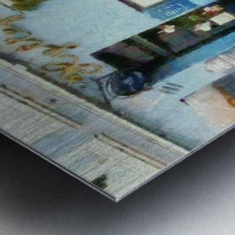 Blue Cafe Copenhagen Metal print