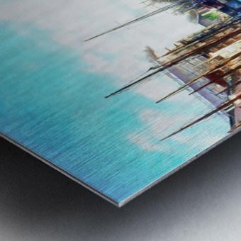 Looking Along Nyhavn Harbour Denmark Metal print