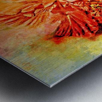 Tropical Hibiscus Floral Metal print
