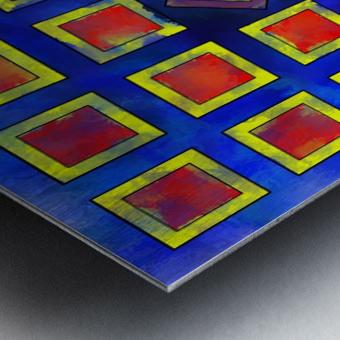 Verhomera - abstract cube worlds Metal print