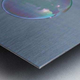 bubble Metal print