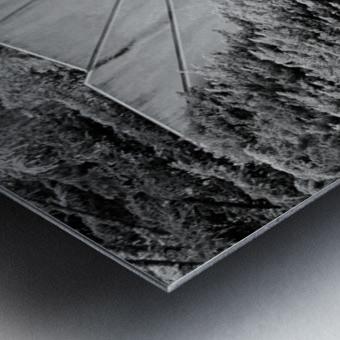 Reflecting Bridge Dow Gardens BW 062618 Metal print