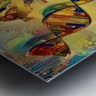 DNA Strand Metal print