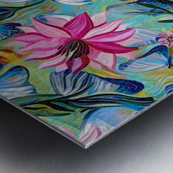 Colorful Floral Abstract  Metal print