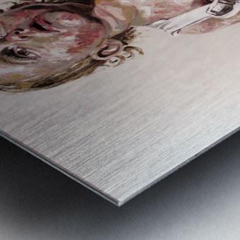 Harnais Metal print