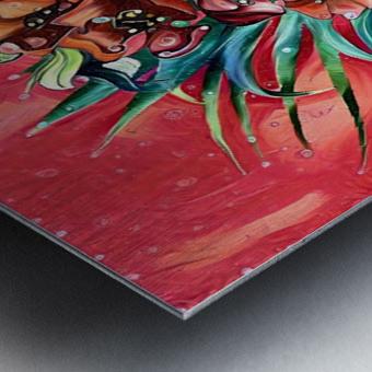 Vibrant Colors Tropical Floral Metal print