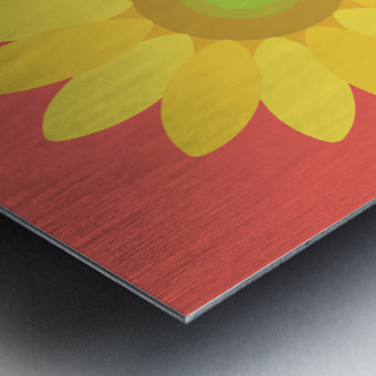 Sunflower (9) Metal print