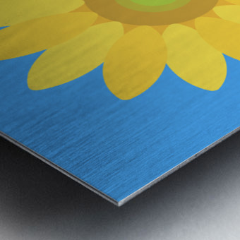 Sunflower (13) Metal print