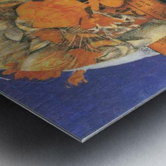 Leafs by Juan Gris Metal print