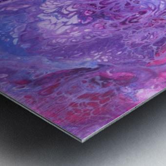 Purple sea of bliss Metal print