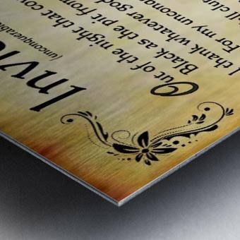 2-Invictus Poem Metal print