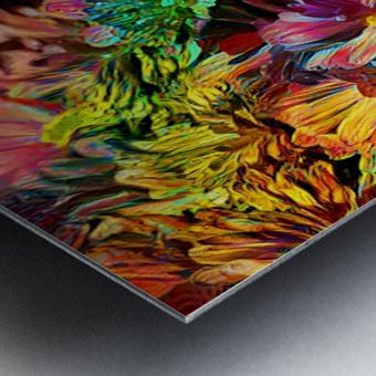 Rainbow Floral Metal print