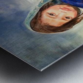 Child raising a Child Metal print