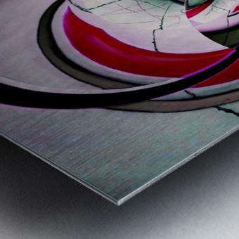 Broken Symmetry Red Metal print
