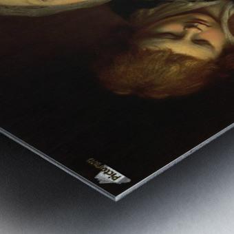 The artist's mother Metal print