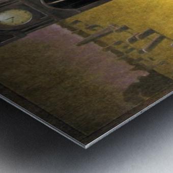 clock Metal print