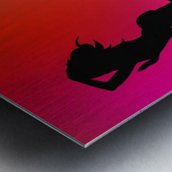 Silhouette 2 Metal print
