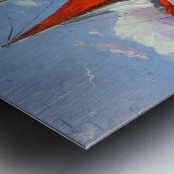 Sailboats in the sea Metal print