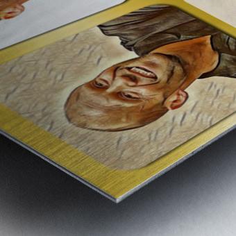 Jason Statham pop star celebrity Metal print