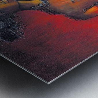 Red Massai Metal print