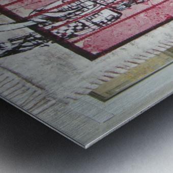 le rouge et le noir Metal print