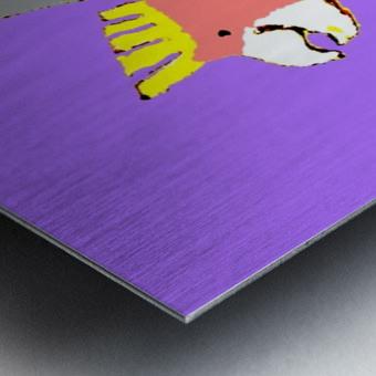 Happy Galah - Purple Metal print