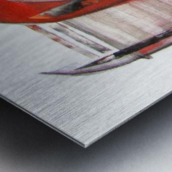 noir_blanc_rouge Metal print