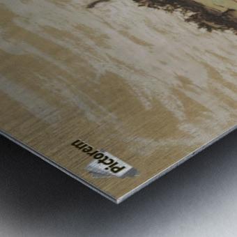 Ferme sur les hauteurs de Vichy Metal print