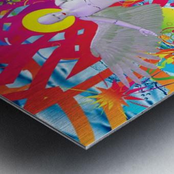 Angelic Robot Metal print
