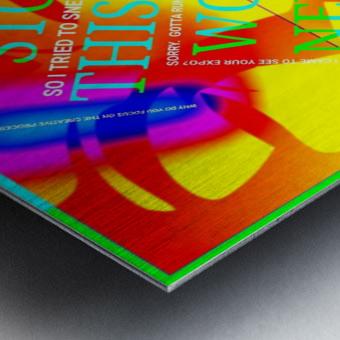 Collagène  Metal print