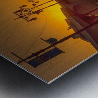 Sunset over the boardwalk Metal print