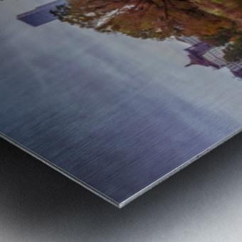Central park lake panorama Metal print