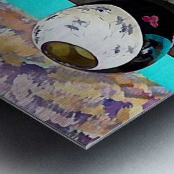 Japanese Vase Display Metal print