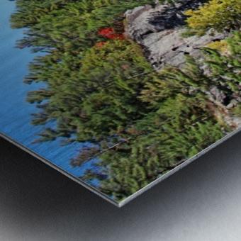 Key River Shore In Fall II Metal print