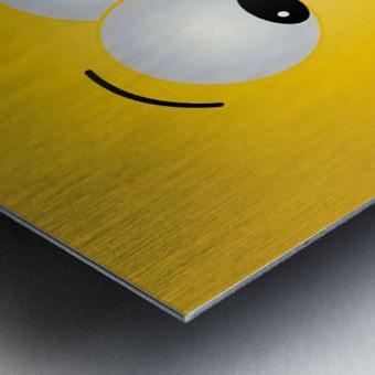 Smiling Puffy  Metal print