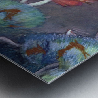Ballet, from a box view by Degas Metal print