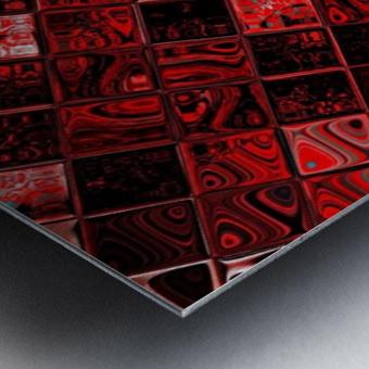 Red Glass Tiles 3 Metal print