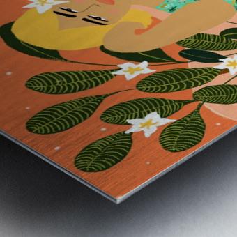 Flower Collector Metal print