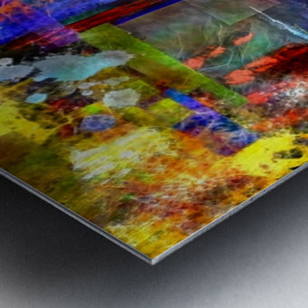 Modern Trendy Abstract Art Metal print