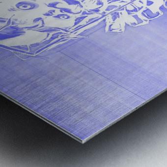 Jacle blue print Metal print
