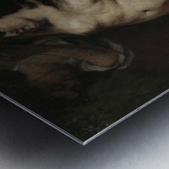 Trois baigneuses Metal print