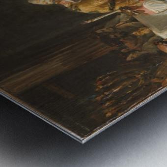 Esquisse pour l eglise Notre Dame de Lorette Consecration de la Vierge Metal print