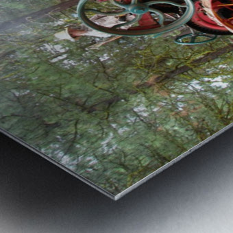 Logging Steam Tractor Metal print